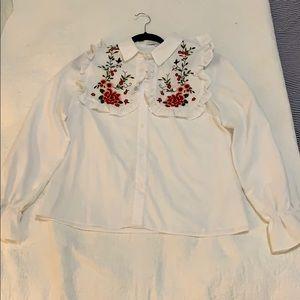 English Factory prairie-chic blouse